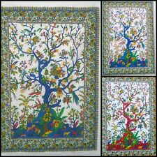 Small Poster Tree Of Life Design Cotton Fabric Wall Hanging Tapestry Handmade
