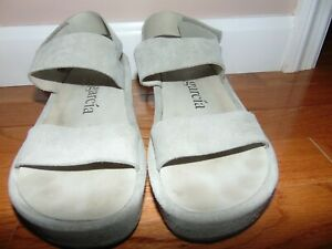 PEDRO GARCIA COWHIDE FUR STRAP GRAY LEATHER SANDALS MADE IN SPAIN N18-4768 SIZE