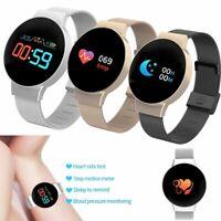 Damen Smartwatch Pulsuhr Fitness Track Sport Armbanduhr für Samsung S9 S8 Plus