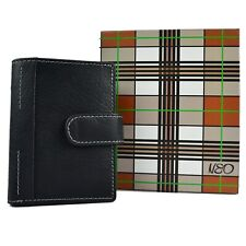 Mens Quality Black Leather Credit Card Holder by MALA Neo Gift Boxed Stylish