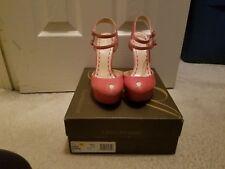Enzo Angiolini Pink two-Strapped Platform Teardrop Peep Toe heels