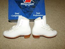 NEW OLD STOCK RIEDELL F75 FIGURE SKATES SZ 2 WHITE BOOT ONLY