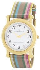 Anne Klein Womens White Dial Multi color Fabric Strap Quartz Watch 10/6840