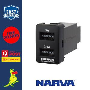Narva Twin USB Charger fits Toyota Prado 150 Series Landcruiser 2010 to 2018