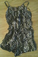 SIZE 8 ANIMAL PRINT PLAYSUIT WITH SEQUIN DETAIL