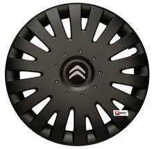 14'' Wheel trims Hub Cups for CITROEN C1 C2 C3 C4 Berlingo Saxo - black new