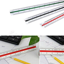 New Triangular Scale Ruler Draughtsmens Ruler Scale Rule 1:150 1:200 1:250