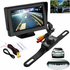 """Car Rear View System Monitor 4.3"""" TFT LCD Night Vision Backup Reverse Camera Kit"""