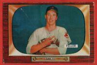 1955 Bowman #134 Bob Feller VG-VGEX WRINKLE SCRATCH Cleveland Indians FREE SHIP