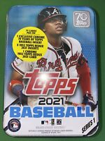 2021 Topps Series 1 RONALD ACUNA Jr Braves Collectible Tin 75 Cards- New Sealed
