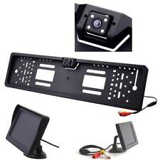 Rückfahrkamera Kennzeichen Nummernschild mit Nachtsicht 4x IR Monitor 4,3 Zoll