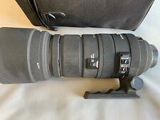 Sigma AF 120-400mm f4.5-5.6 DG OS APO HSM Lens Nikon + Case + Sample