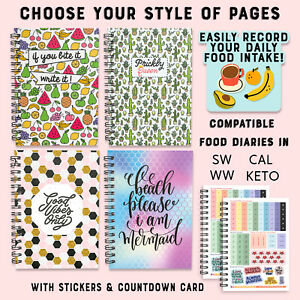 FOOD DIET DIARY A5 WEIGHT LOSS JOURNAL LOG💚 SW/WW/ CAL/KETO FRIENDLY💚 PLANNER
