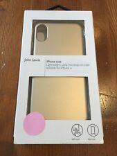 John Lewis Lightweight Ultra Thin iPhone X XS Case - Gold