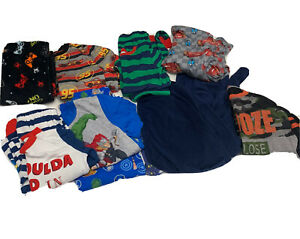 lot of 14 Pcs Boys sz 6/7 pajamas Robe marvel disney