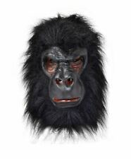 Adult Scary Black Gorilla King Kong Monkey Ape Jungle Zoo Animal Overhead Mask