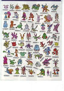 A4 Bogen Manga-Sticker mit 58 verschiedenen Stickern - nummeriert 70 - 127