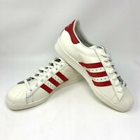 Adidas Superstar Shoes 80s DLX White Sneakers Mens US Size 10.5