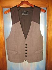 ALL SAINTS SPITALFIELDS SZ 44 /  L BROWN TWEED 5 BUTTON  VEST WOOL MINT