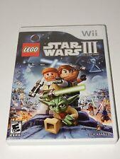 LEGO Star Wars III: The Clone Wars (Nintendo Wii, 2011)  **COMPLETE**