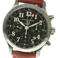 SCHWARZ-ETIENNE Chronograph GMT Automatic Leather belt Men's(a)_469548