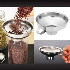 Wide Mouth Canning Funnel Stainless Steel Oil Leak Salad Dressing Funnel