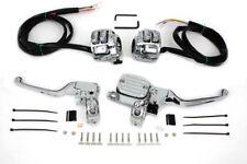 Chrome Handlebar Control Kit for Harley Softail Dyna Sportster FXST FLST FXD XL