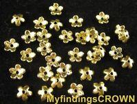 250 pcs Antiqued gold tiny star bead caps FC1225
