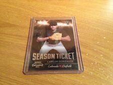 2011 Playoff Contenders Season Ticket Carlos Gonzalez #9 202/299