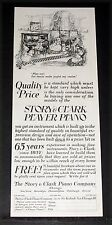 1922 OLD MAGAZINE PRINT AD, STORY & CLARK PLAYER PIANOS, NURSERY RHYMES ART!