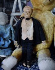 Antique Handmade Folk-Art Cloth Gentleman Doll