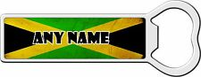 PERSONALISED JAMAICAN FLAG METAL BOTTLE OPENER FRIDGE MAGNET BIRTHDAY XMAS GIFT