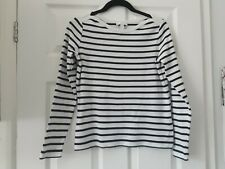 The White Company striped long sleeved top size 8