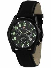 Rotary 'ST.MORITZ' Men's Black Chronograph Functional Wristwatch  -  GS03608/19