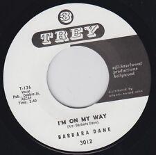"""BARBARA DANE I'm On My Way TREY Re. 7"""" Fiery 1960 Gospel Northern R&B Soul HEAR"""