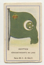 N°3 DRAPEAU FLAG KING ROI AGYPTEN KINGDOM OF EGYPT EGYPTE FLAG IMAGE CARD 1930