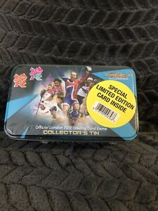 London 2012 Olympic Adrenalyn Trqding Card Colextors Tin