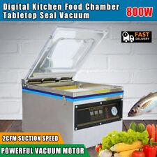 Table Top Chamber Vacuum Sealer Digital Vacuum Packing Sealing Machine 800W 110V