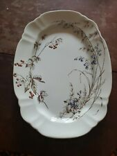 "Antique JOHN EDWARDS, Fenton, England MINERVA Rd#120164 14"" Oval Serving Platter"