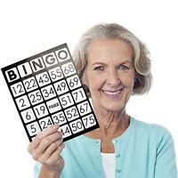 "EZ Readers Large-Format 8.5"" x 11"" Bingo Cards, Jumbo 1-inch Numbers, 50-pack"