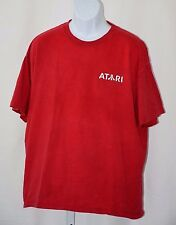 Atari Front and Back Logo Extra Large XL Hanes Beefy T Red 100% Cotton T Shirt