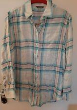 Joules Laurel Longline Shirt  Blue check  Size 12