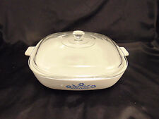 """Corning ware 10"""" dish with cover oven proof baking stove to table style contempo"""