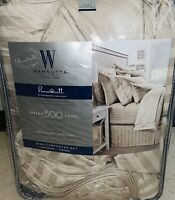 WAMSUTTA 500-Thread-Count PimaCott® Damask Stripe King Comforter Set (STONE)