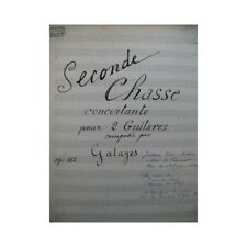GATAYES Guillaume Seconde Chasse op 102 Guitare partition sheet music score