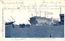 Brooklyn Navy Yard New York Training Ship Street View Antique Postcard K63402