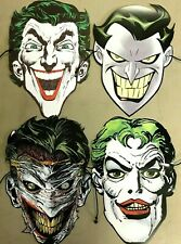 JOKER 80TH ANNIVERSARY PAPER MASK SET OF 4 (NEW) 2020 DC COMICS / BATMAN PROMO
