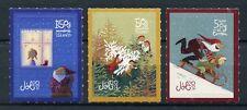 Iceland 2017 MNH Christmas Father Christmas Trees 3v S/A Set Seasonal Stamps