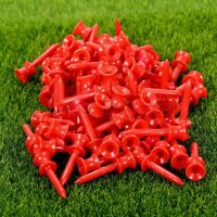 Pack of 100Pcs Plastic Assorted Step Down Golf Castle Tees Height Control 41mm