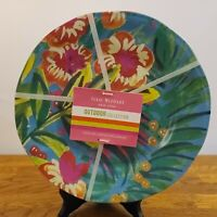 Set of 4 Isaac Mizrahi New York Outdoor Collection Tropical Melamine Plates NEW